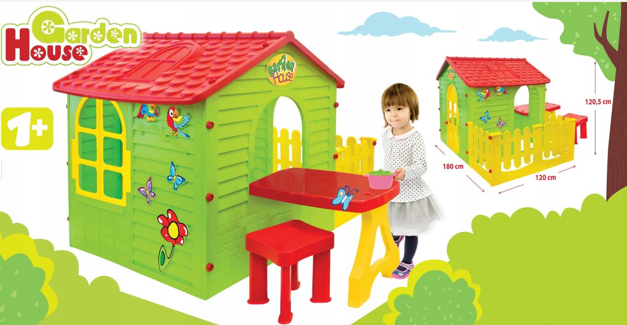 Детский садовый домик + столик + стул Mochtoys