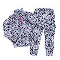 Флисовый костюм для девочки NANO BUWP604-F19 Gray/Aqua/Pink. Размеры 2 -12.