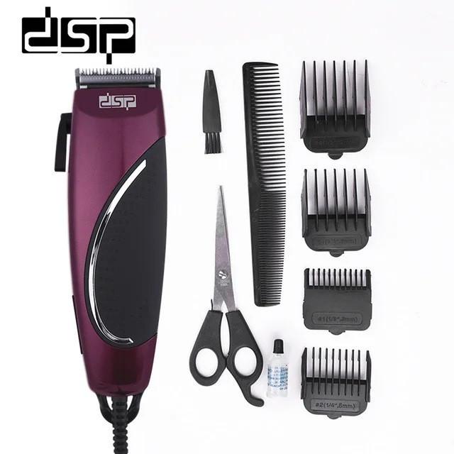 Машинка для стрижки волос (нержавеющая сталь, 4 насадки) DSP F-90031