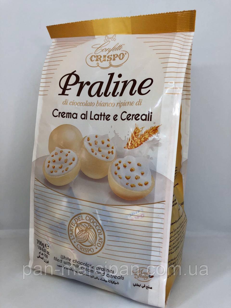 Цукерки Crispo Praline Crema al Latte e Cereali 700 г Італія