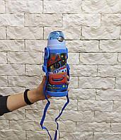Термос с трубочкой 350 мл  для мальчика тачки маквин