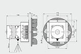 Вытяжной вентилятор MplusM WWK 180 /60W, фото 2