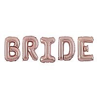 Фольгированная надпись 40' Китай Bride розовое золото, 100 см