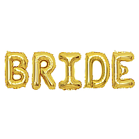 Фольгированная надпись 40' Китай Bride золото, 100 см