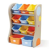 Органайзер с ящиками Step 2 FUN TIME ROOM ORGANIZER синий/оранжевый 89х67х36 см