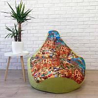 Кресло-мешок KatyPuf принт Тачки, Размер L 100x75