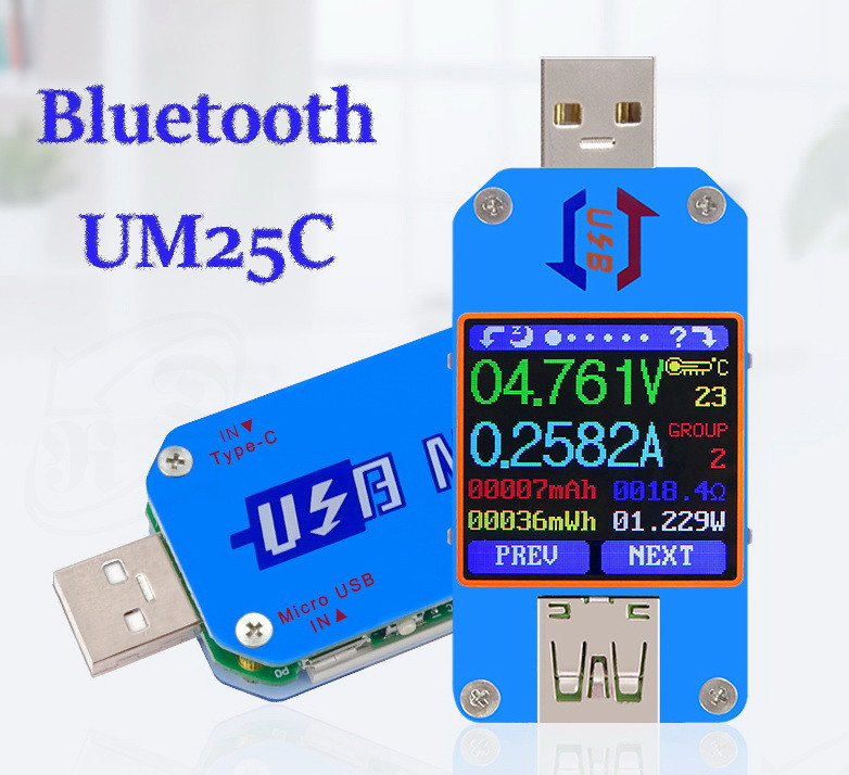 RIDEN UM25C USB тестер Bluetooth