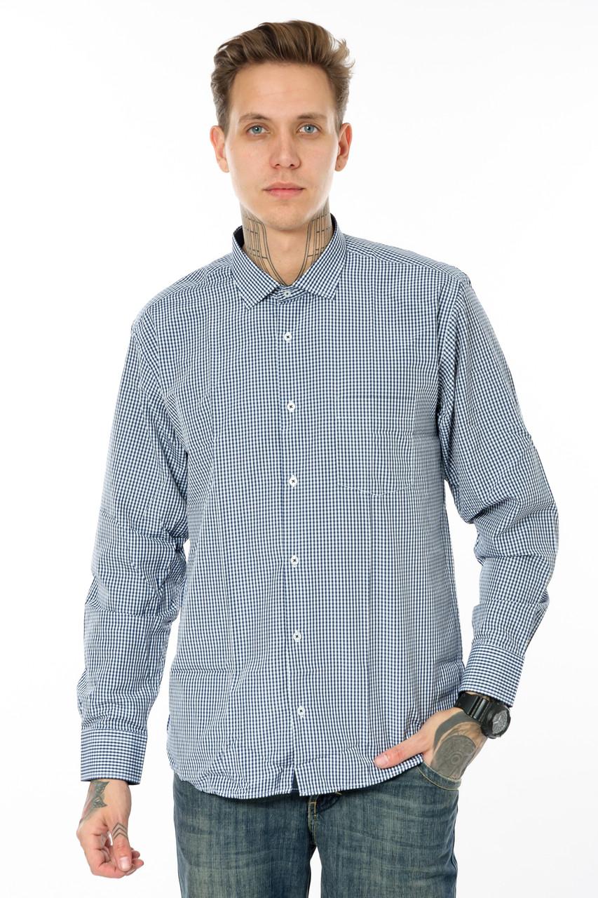 Мужская рубашка Gelix 1207002 в клетку синяя