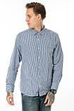Мужская рубашка Gelix 1207002 в клетку синяя, фото 4