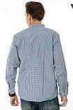 Мужская рубашка Gelix 1207002 в клетку синяя, фото 5