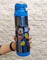Детский термос с трубочкой 500 мл  микки маус