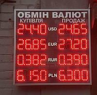 Обмен валют - одностороннее светодиодное табло