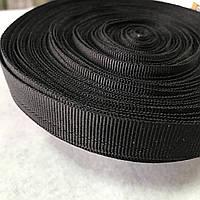 Тесьма брючна чорна, ширина 1,5 см, фото 1