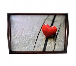 Поднос подушка Красное Сердце (122534)