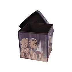 Пуфик с крышкой для хранения вещей мишки (51630001)