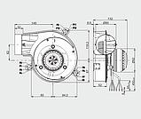 Вытяжной вентилятор MplusM G2E 150-DN91-01 (145 куб. м/час), фото 2