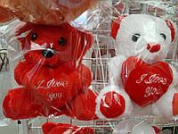 Мягкая игрушка Мишка с сердцем 16 см. .