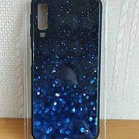 "Чехол накладка на телефон Dengos (Back Cover)""GLAM"" для Samsung Galaxy A7 2018 (A750) синий калейдоскоп"