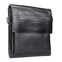 Удобная мужская сумка черная из искусственной кожи DR. BOND (20*17*5 см), GL 314-1 black