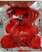 Мягкая игрушка Мишка с сердцем 14 см. .