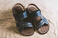 Мужские сандали кожаные летние синие Bonis Original 25, фото 1
