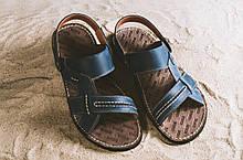 Чоловічі сандалі шкіряні літні сині Bonis Original 25