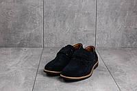 Туфли подростковые Yuves М5L синие (замша, весна/осень)