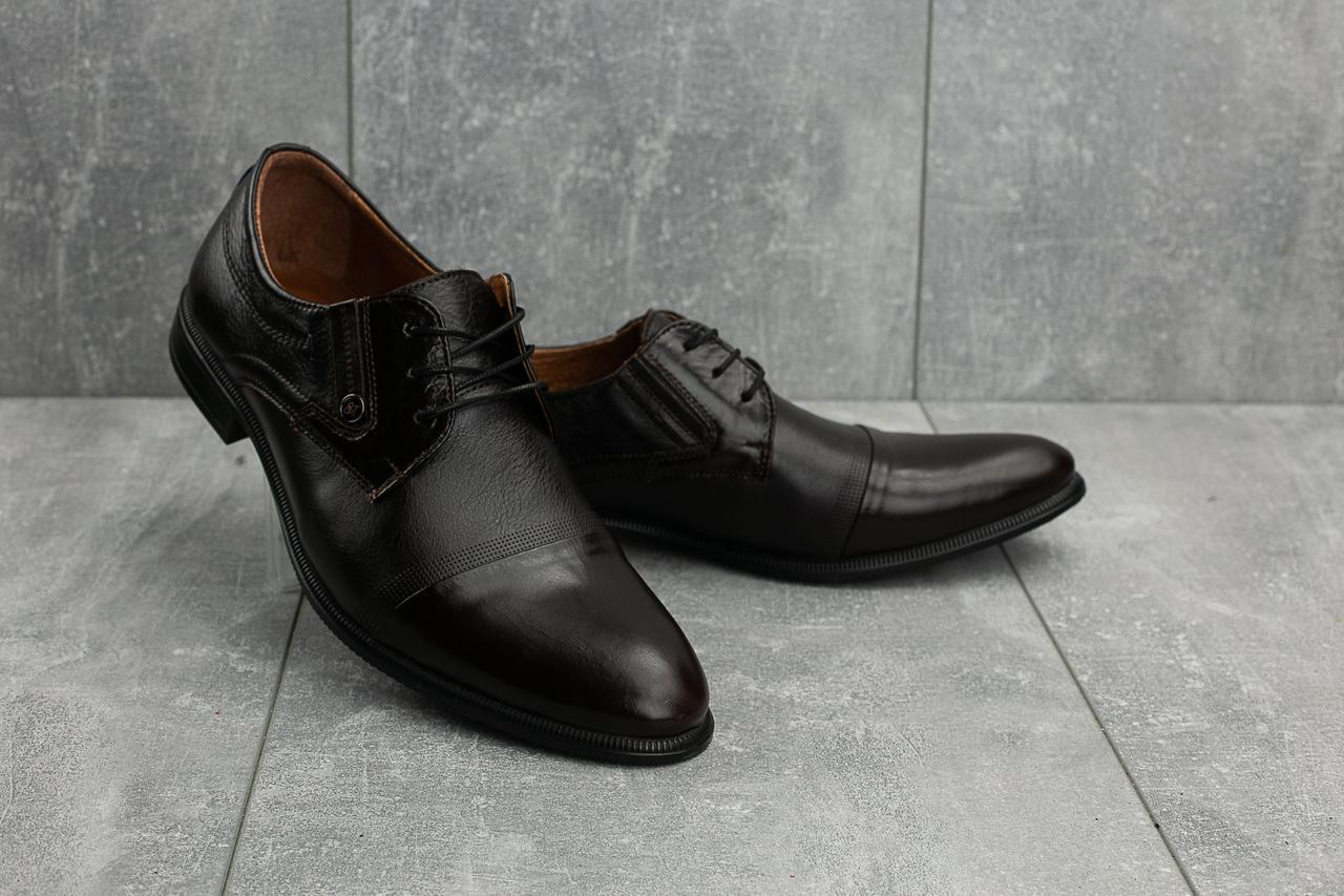 Мужские туфли кожаные весна/осень коричневые Slat 1801