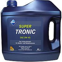 Моторное синтетическое масло ARAL(Арал) SuperTronic (Low SAPS) 0W-40 4л