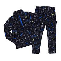 Флисовый костюм для мальчика NANO BUWP601-F19 Black/Ultralime. Размеры 2-12.