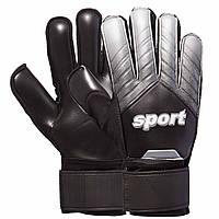 Перчатки вратарские SPORT, PVC, р-р 8-10, черный (920-(blk))