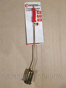 Горелка газовая с регулятором 715мм, сопло 125мм, Ø60мм. INTERTOOL GB-0042