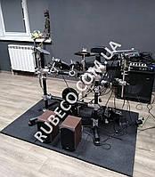 Резиновые коврики для ударной установки, толщина 20мм. Резиновая плитка под барабаны.