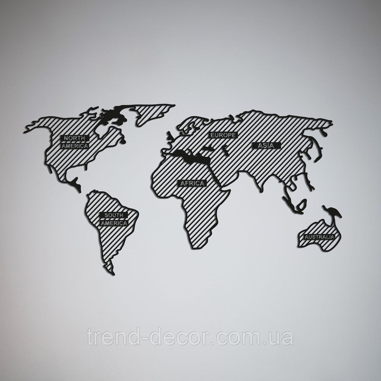 Декоративное металлическое панно  Map .