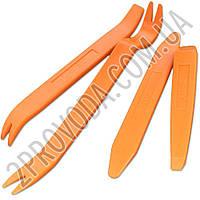 Набор инструментов (съемников) для снятия пистонов, обшивки салона автомобиля, панелей, магнитол (4 предмета)