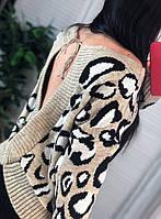 Свитер леопард с открытой спиной разные цвета, фото 1