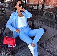 Женский модный классический брючный костюм с пиджаком Разные цвета, фото 1