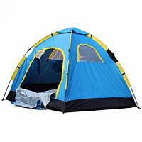 Палатка туристическая кемпинговая пятиместная Stenson R17768 2.5х2.5х1.7 м, голубая