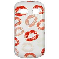 Чехол с рисунком Printed Plastic для Alcatel One Touch POP C3 4033D / 4033X Поцелуи