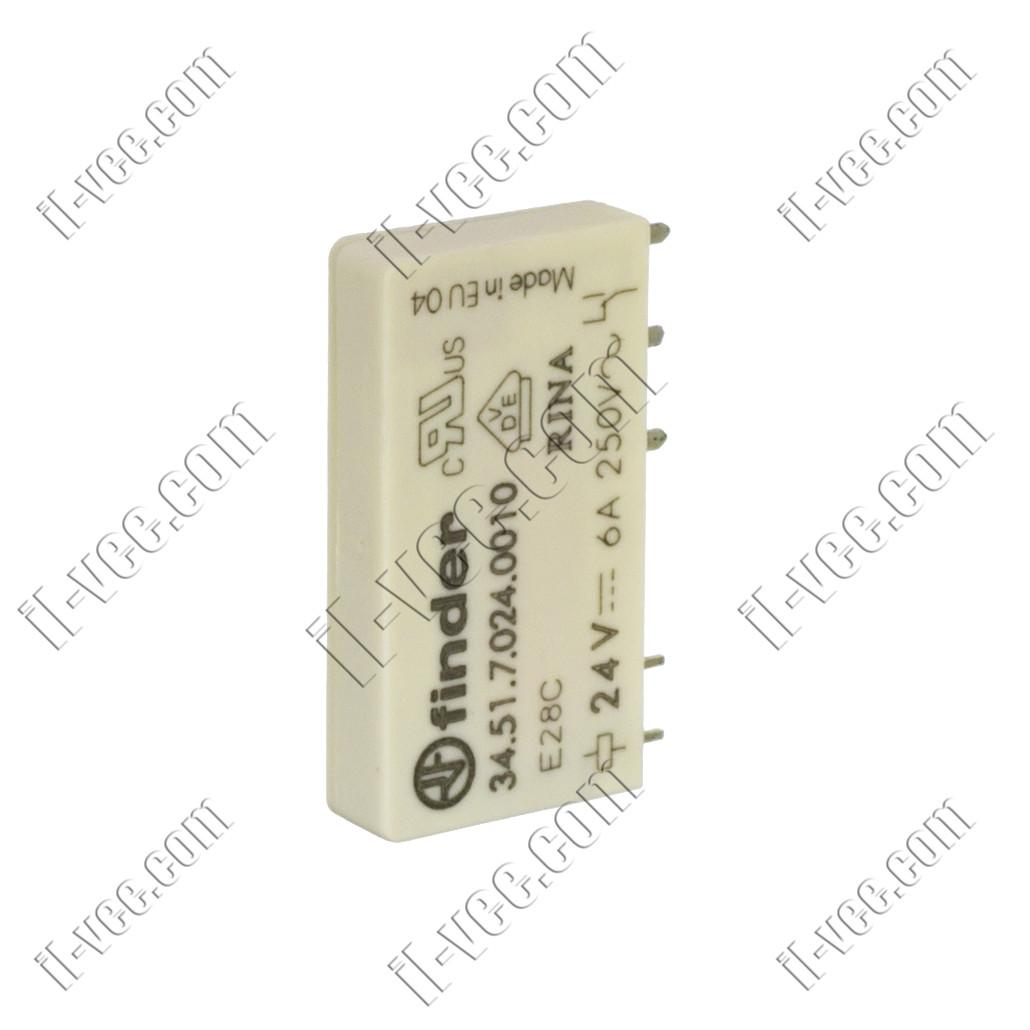 Реле FINDER 34.51.7.024.0010, 24VDC, 6А/250VAC 6А/30VDC