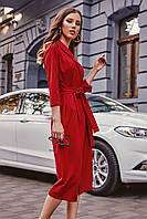 S, M, L / Вишукане вечірнє червоне плаття на запах