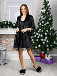 Оксамитовий жіночий комплект Халат, нічна сорочка Розмір 42 44 46 48 В наявності 5 кольорів, фото 2