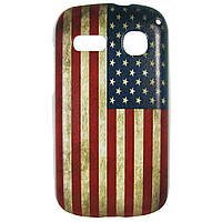 Чехол с рисунком Printed Plastic для Alcatel One Touch POP C3 4033D / 4033X Американский флаг