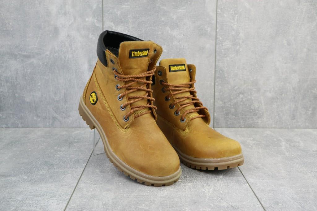 Женские ботинки кожаные зимние рыжие Brand 205