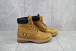 Женские ботинки кожаные зимние рыжие Brand 205, фото 2