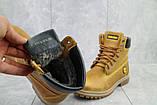 Женские ботинки кожаные зимние рыжие Brand 205, фото 6