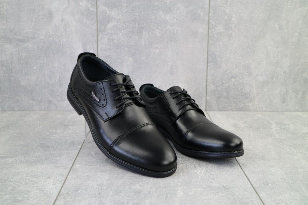 Чоловічі туфлі шкіряні весна/осінь чорні Vivaro 555