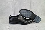 Чоловічі туфлі шкіряні весна/осінь чорні Vivaro 555, фото 3