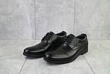Мужские туфли кожаные весна/осень черные Vivaro 555, фото 4