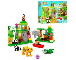 Конструктор пластиковый для ребенка JDLT зоопарк, 106 деталей.